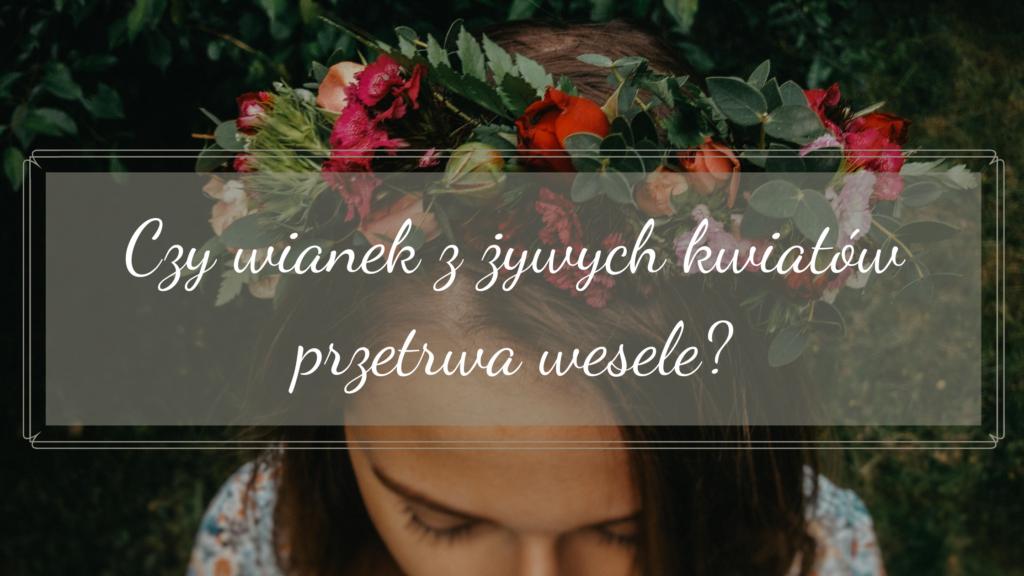 wianek z żywych kwiatów wesele